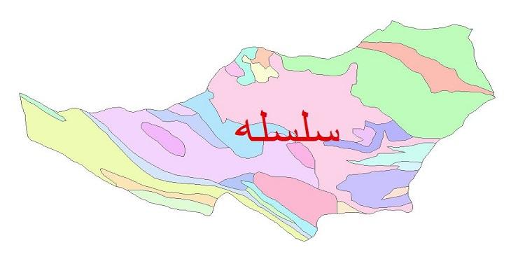 دانلود نقشه شیپ فایل زمین شناسی شهرستان سلسله