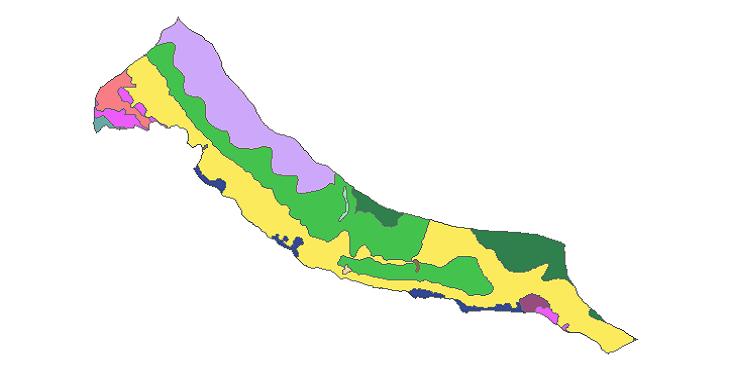 شیپ فایل کاربری اراضی شهرستان کنگان