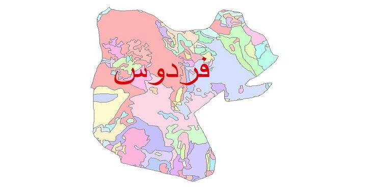 دانلود نقشه شیپ فایل زمین شناسی شهرستان فردوس