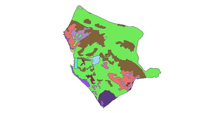شیپ فایل کاربری اراضی شهرستان دیلم