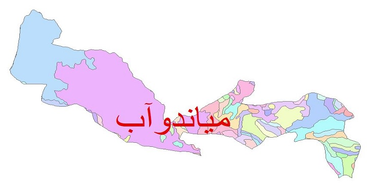 دانلود نقشه شیپ فایل زمین شناسی شهرستان میاندوآب