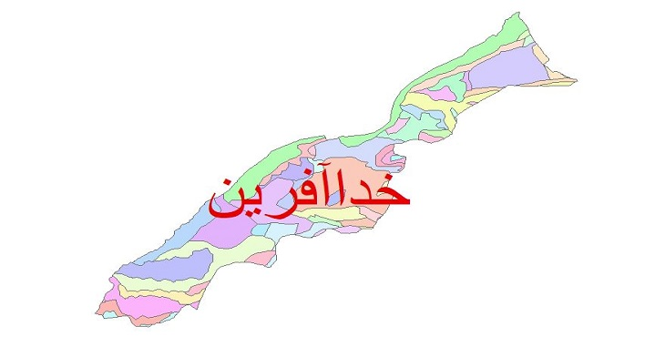 دانلود نقشه شیپ فایل زمین شناسی شهرستان خداآفرین