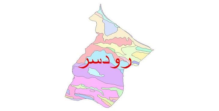 دانلود نقشه شیپ فایل زمین شناسی شهرستان رودسر