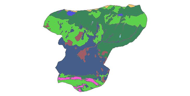 شیپ فایل کاربری اراضی شهرستان ساوجبلاغ