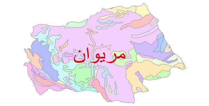 دانلود نقشه شیپ فایل زمین شناسی شهرستان مریوان