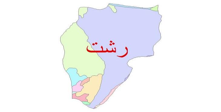 دانلود نقشه شیپ فایل زمین شناسی شهرستان رشت