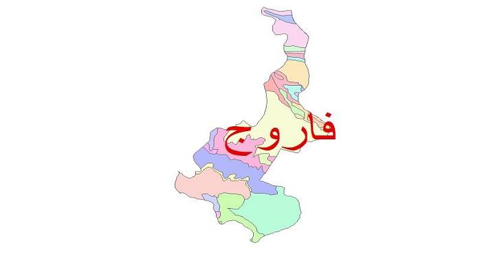 دانلود نقشه شیپ فایل زمین شناسی شهرستان فاروج