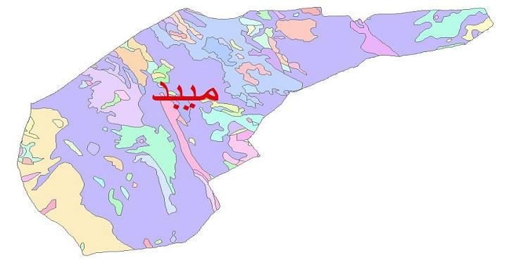 دانلود نقشه شیپ فایل زمین شناسی شهرستان میبد