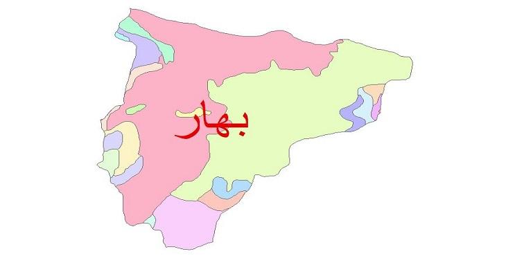 دانلود نقشه شیپ فایل زمین شناسی شهرستان بهار