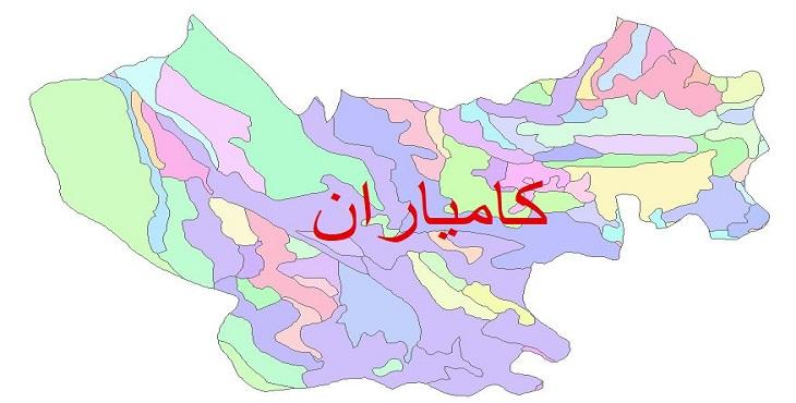دانلود نقشه شیپ فایل زمین شناسی شهرستان کامیاران
