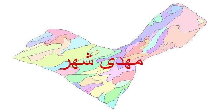دانلود نقشه شیپ فایل زمین شناسی شهرستان مهدی شهر