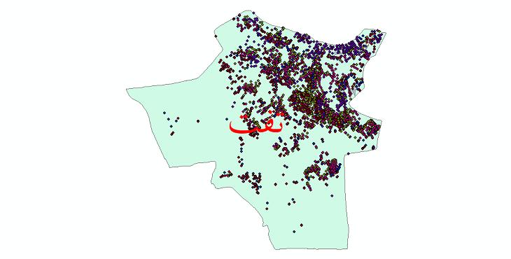 دانلود نقشه شیپ فایل آمار جمعیت نقاط شهری و نقاط روستایی شهرستان تفت از سال 1335 تا 1395