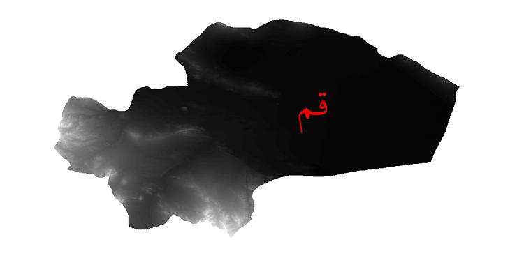 دانلود نقشه دم رقومی ارتفاعی استان قم