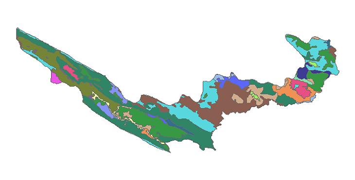 شیپ فایل کاربری اراضی شهرستان چرداول