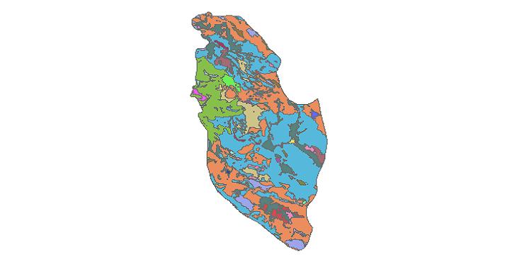 شیپ فایل کاربری اراضی شهرستان سمیرم