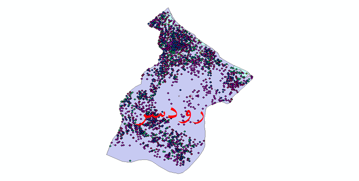 دانلود نقشه شیپ فایل آمار جمعیت نقاط شهری و نقاط روستایی شهرستان رودسر از سال 1335 تا 1395