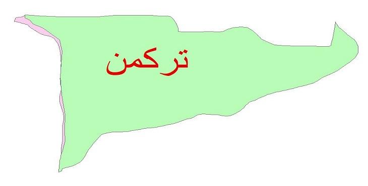 دانلود نقشه شیپ فایل زمین شناسی شهرستان ترکمن