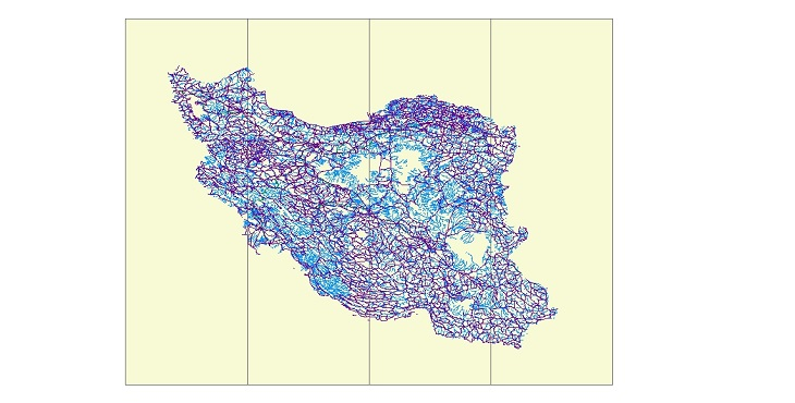 شیب فایل (GIS) ایران (استان ها,شهرستانها,روستاها,جاده ها,رودخانه ها و زون ها ...