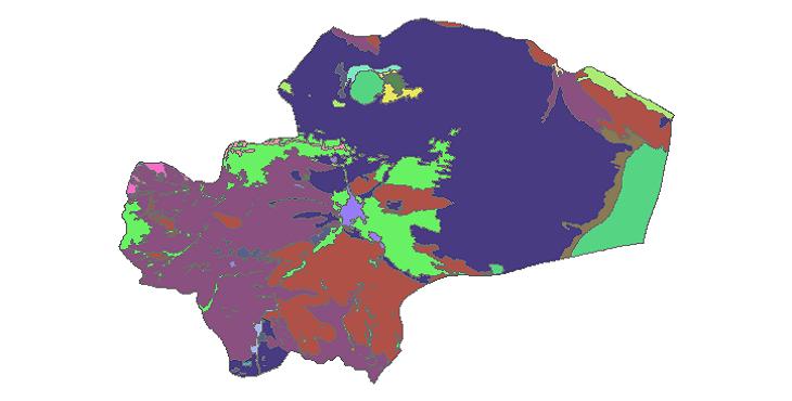 شیپ فایل کاربری اراضی استان قم