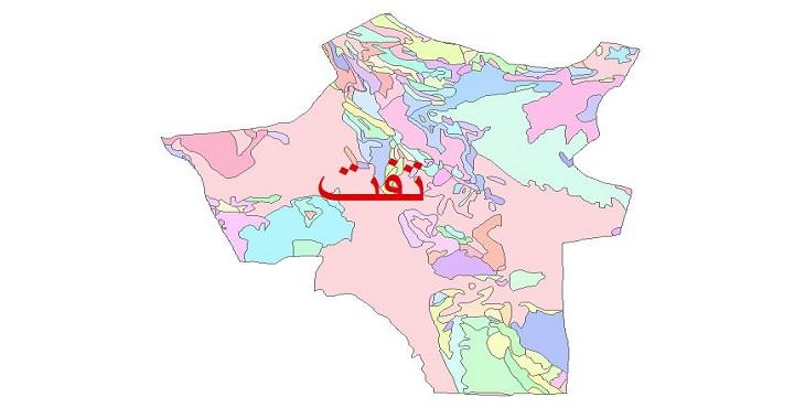 دانلود نقشه شیپ فایل زمین شناسی شهرستان تفت