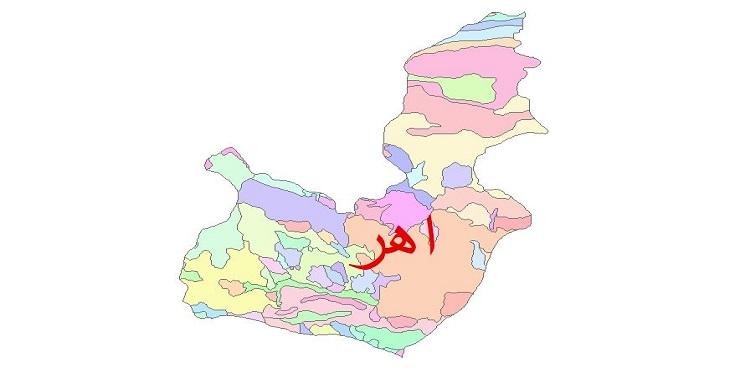 دانلود نقشه شیپ فایل زمین شناسی شهرستان اهر