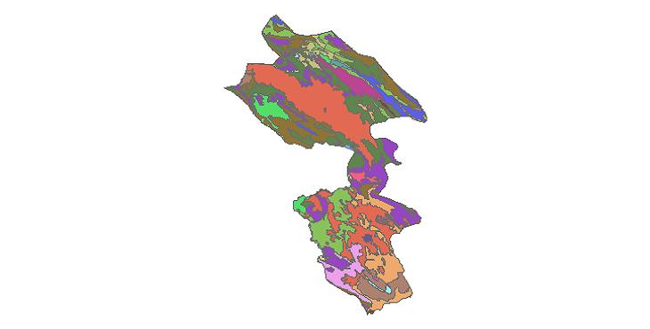 شیپ فایل کاربری اراضی شهرستان کهگیلویه