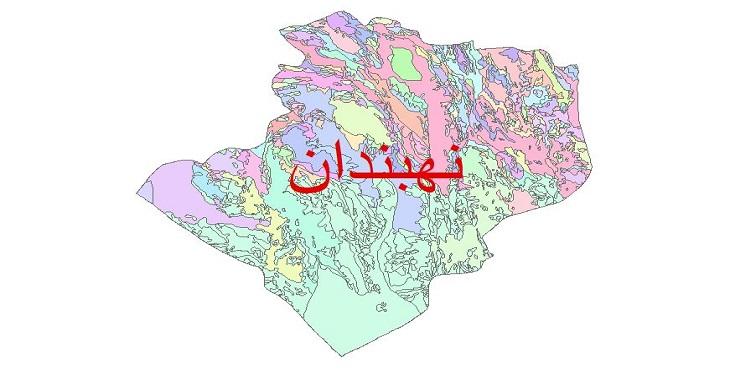 دانلود نقشه شیپ فایل زمین شناسی شهرستان نهبندان