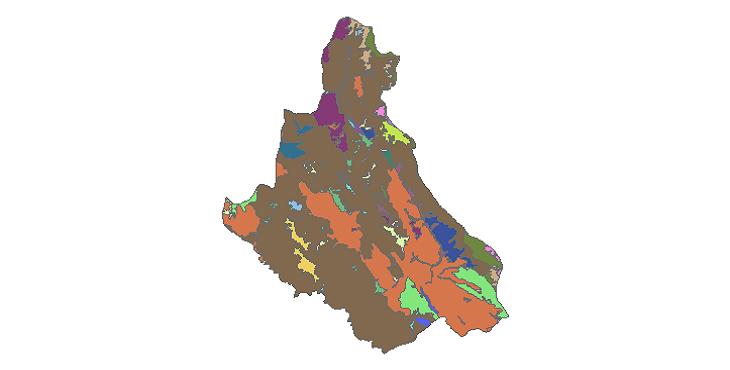 شیپ فایل کاربری اراضی شهرستان خلخال