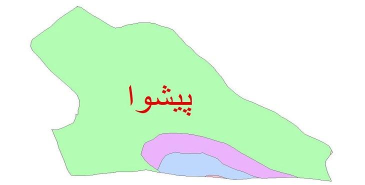 دانلود نقشه شیپ فایل زمین شناسی شهرستان پیشوا