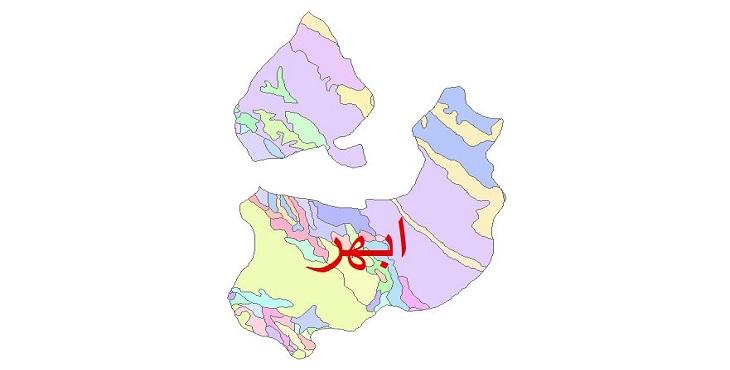 دانلود نقشه شیپ فایل زمین شناسی شهرستان ابهر