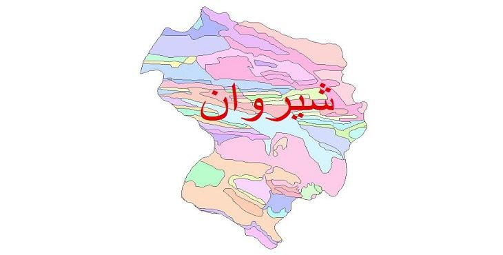 دانلود نقشه شیپ فایل زمین شناسی شهرستان شیروان
