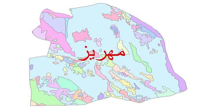 دانلود نقشه شیپ فایل زمین شناسی شهرستان مهریز