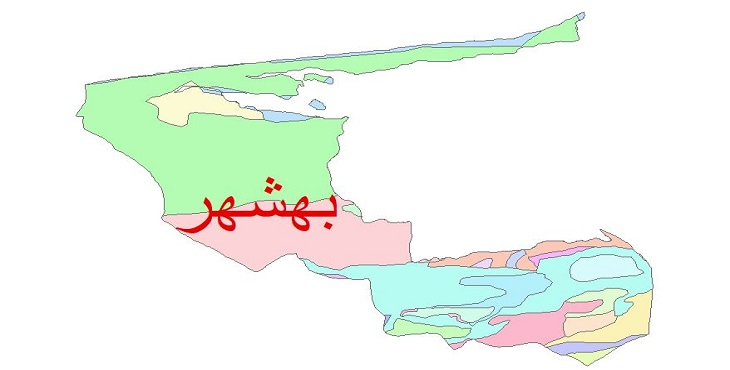 دانلود نقشه شیپ فایل زمین شناسی شهرستان بهشهر