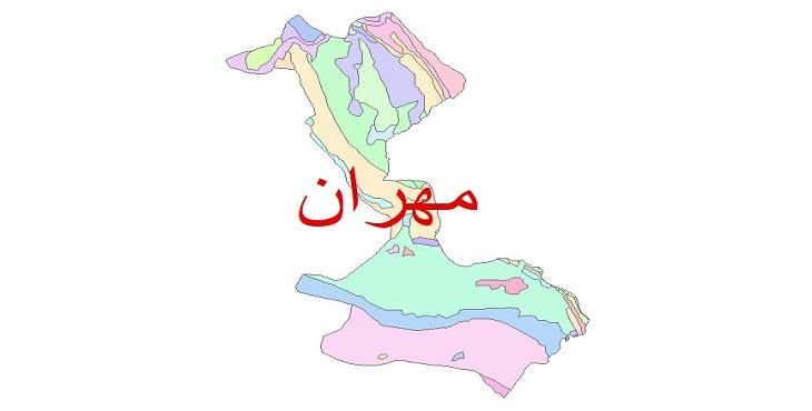 دانلود نقشه شیپ فایل زمین شناسی شهرستان مهران
