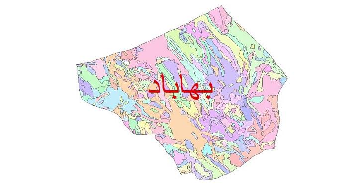 دانلود نقشه شیپ فایل زمین شناسی شهرستان بهاباد