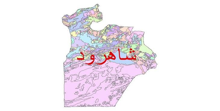 دانلود نقشه شیپ فایل زمین شناسی شهرستان شاهرود