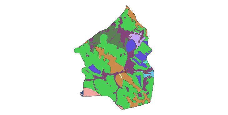 شیپ فایل کاربری اراضی شهرستان دهاقان