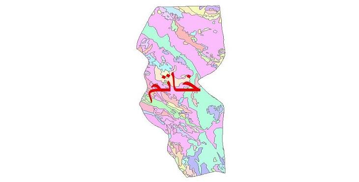 دانلود نقشه شیپ فایل زمین شناسی شهرستان خاتم