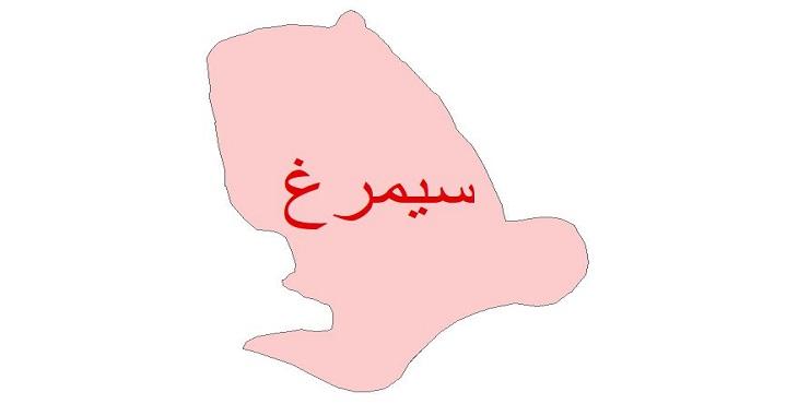دانلود نقشه شیپ فایل زمین شناسی شهرستان سیمرغ