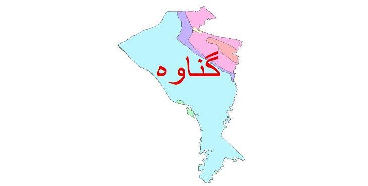دانلود نقشه شیپ فایل زمین شناسی شهرستان گناوه