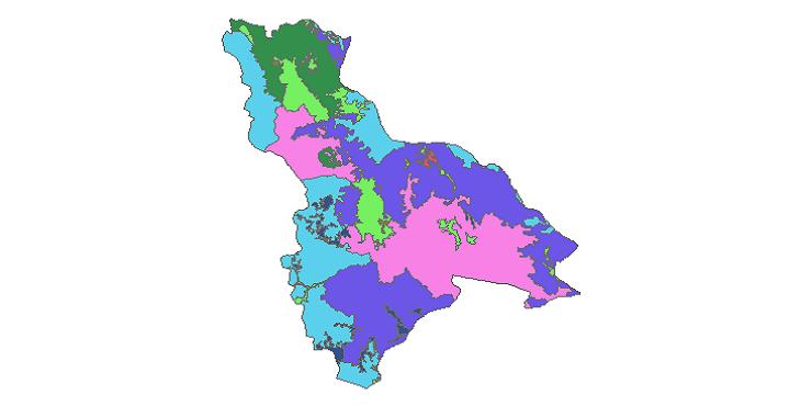 شیپ فایل کاربری اراضی شهرستان چالدران