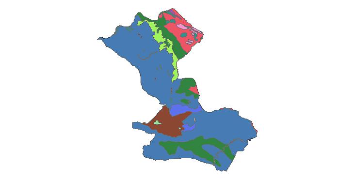 شیپ فایل کاربری اراضی شهرستان مهران