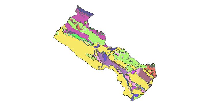 شیپ فایل کاربری اراضی شهرستان دهلران