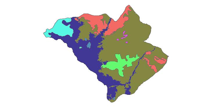 شیپ فایل کاربری اراضی شهرستان ملکان