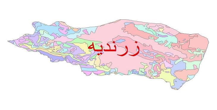 دانلود نقشه شیپ فایل زمین شناسی شهرستان زرندیه