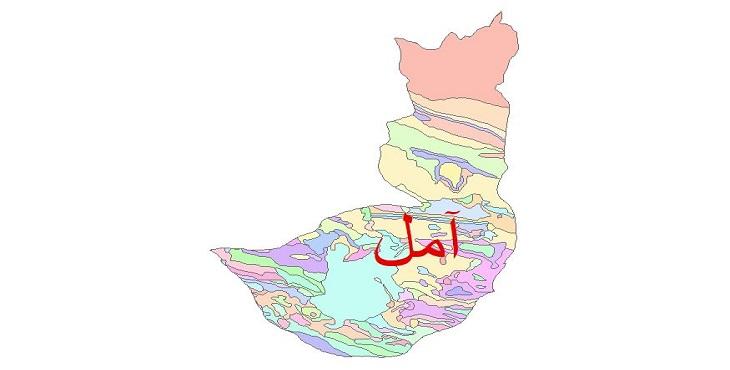 دانلود نقشه شیپ فایل زمین شناسی شهرستان آمل
