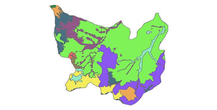 شیپ فایل کاربری اراضی شهرستان نیر