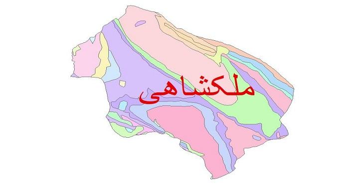 دانلود نقشه شیپ فایل زمین شناسی شهرستان ملکشاهی