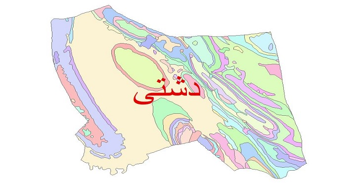 دانلود نقشه شیپ فایل زمین شناسی شهرستان دشتی