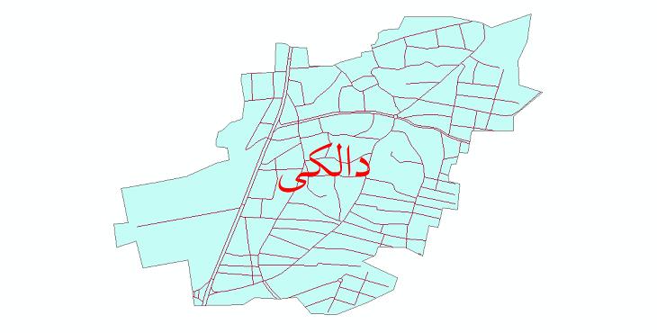 دانلود نقشه شیپ فایل شبکه معابر شهر دالکی سال 1399